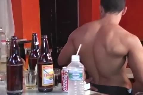muscular Latino Barguy gets sucked And slammed