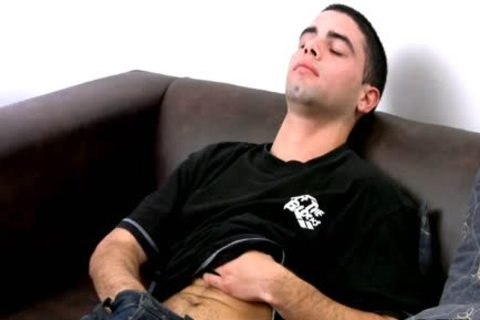 dicky Latin man Beats Off On his couch