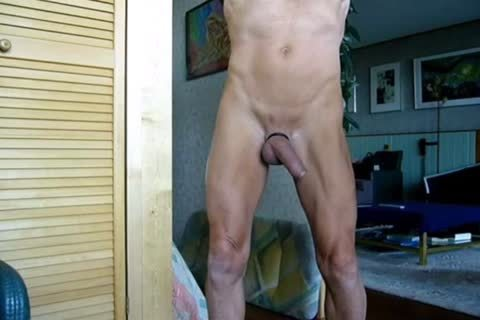 Stripping, Swinging My 10-Pounder, Jerking-off And Cummin In The End