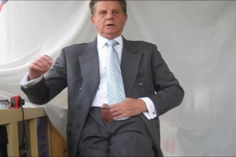 wanking IN SUIT AND TIE