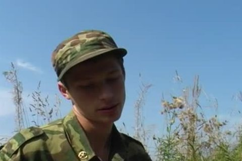 A young Military duett have a joy Some Sex outdoors
