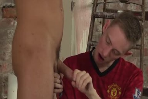 Ashton hammers large penis On Jack pretty arse After stunning oral sex job