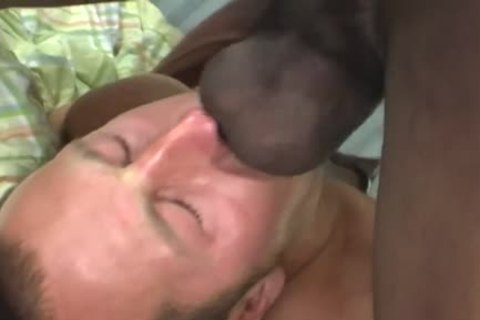 White guy Deepthroating A gigantic black dong