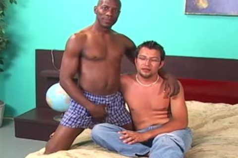 dark dude Licking And Fingering A White guy