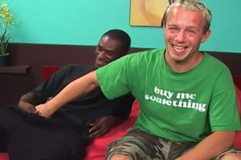 A funny White lad And A Hung black man H