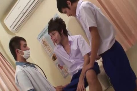 Medical Fetish homosexual asian three-some