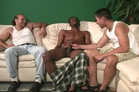 White chap receives ass team-drilled By dark guys