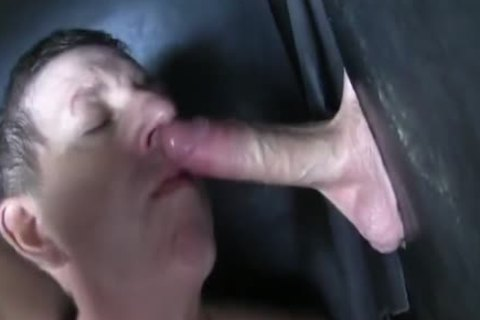 Super humongous Uncut weenie straight Aussie Max get's Sucked Off At The Gloryhole.