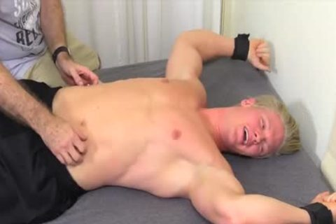 fine And blond man Named Seamus gets Tickled Hard