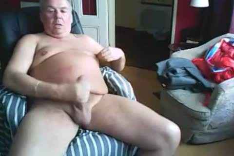 grandpa stroke On web camera