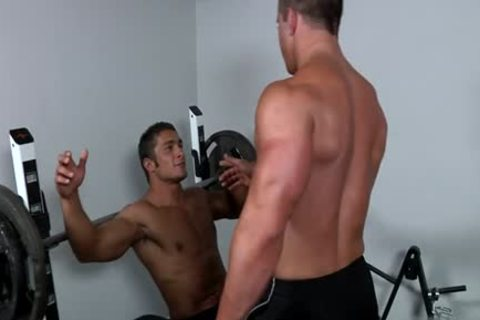 Muscle homo oral stimulation And spunk flow