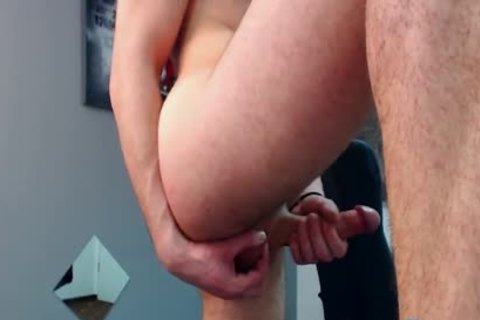 Flirt4Free Model Bruce Larsen - big Dicked chap spreads His wazoo And Jerks A big Load Off