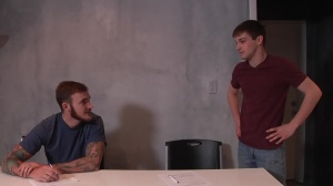 First Time Bottom - Christian Wilde and Joey Carter ass pound