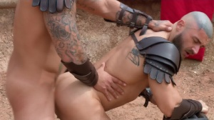 Sacred group Of Thebes - Francois Sagat & Ryan pounds ass dril