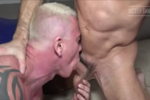 Tatted Muscle Daddy pair & Manuel Skye
