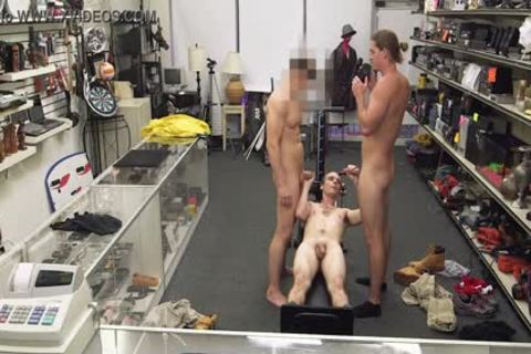 gay PAWN - Fitness Trainer gets butthole team-plowed By Two Employees