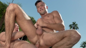Falcon Studios: Shane Jackson and Tristan Hunter masturbation